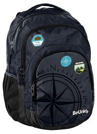 Paso BeUniq Travel School Backpack w/ Pencil Case Dark Blue