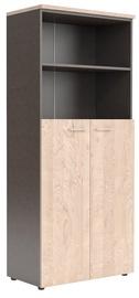 Skyland XTEN Office Cabinet XHC 85.6 Tiara Beech/Dark Wood