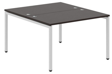 Skyland Xten-S XWST 1214 Writing Desk 120x140x75cm Legno Dark/Aluminium