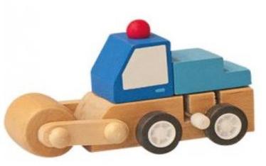 Woody Clockwork Construction Machine Blue 91000