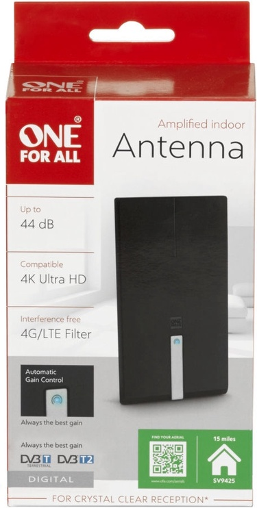 One For All Amplifiel Indoor Antenna SV9425