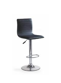 Baro kėdė, juoda, 40 x 42 x 93–115 cm