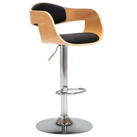 Барный стул VLX Faux Leather 283121, коричневый/черный