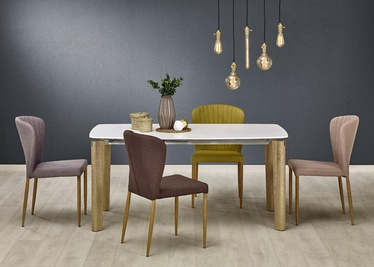 Pusdienu galds Halmar Weber White/Sonoma Oak, 1600x900x760 mm
