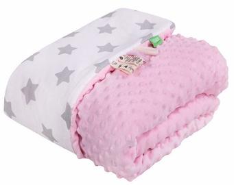 Lulando Minky Baby Blanket Pink/White With Stars 80x100cm