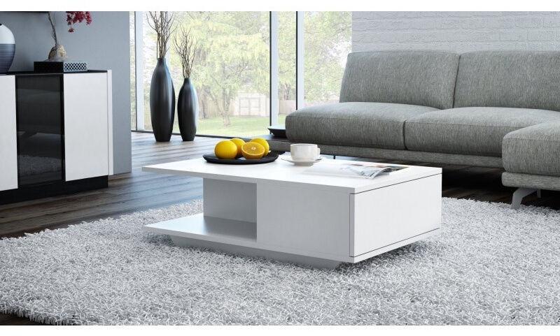 Kavos staliukas Top E Shop Denver, baltas, 900x600x420 mm