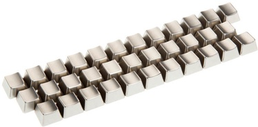 King Mod Service Metal Keycaps Letters US Silver