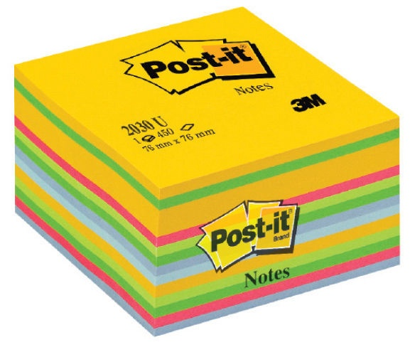 3M Post It 2030-U Note Cube 450pcs Ultra Colours