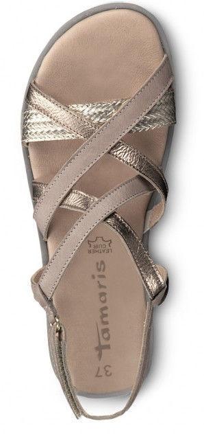 Basutės, Tamaris Sandal 1-1-28606-22 Stone Combination 37