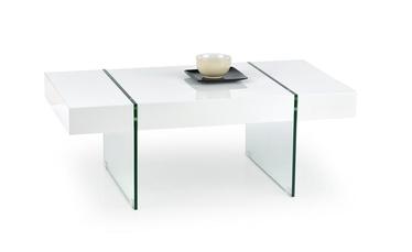 Kavos staliukas Amber baltas, 110 x 60 x 40 cm