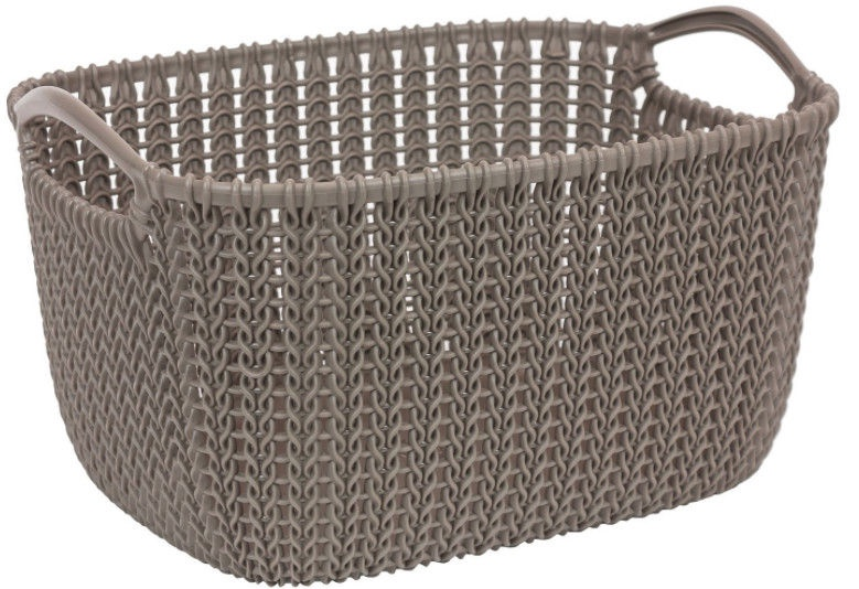 Curver Knit L Rectangular Basket Brown