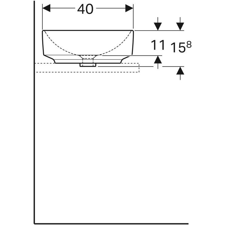 Praustuvas IDO elipsės forma 500.774.01.9