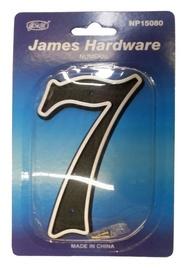 """Numeris """"7"""" NP15080C, plastikinis, juodas, 15 cm"""