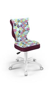 Детский стул Entelo Petit ST32, белый/фиолетовый, 370x350x830 мм