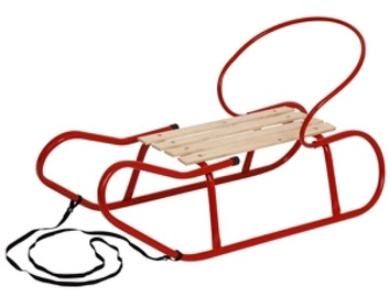 Verners Sled 90x37x23cm Red