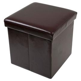 Pufas su daiktadėže, rudas, 38 x 38 38 cm
