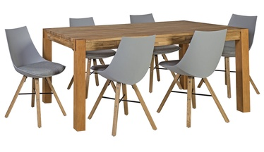 Home4you Chicago/Seiko Dining Room Set Oak/Light Grey