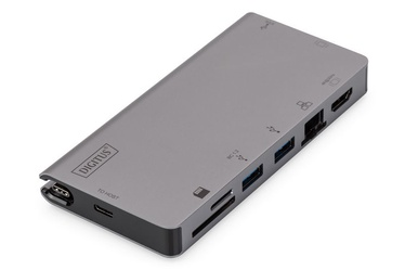 Digitus USB Type- Multiport Travel Dock 8-Port