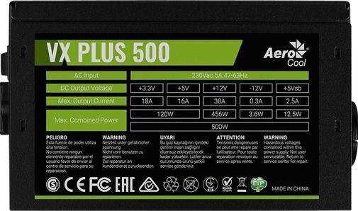 AeroCool VX-500 Plus 500W