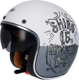 Shiro Helmet SH-235 Born Matt White L