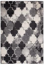 Ковер Evelekt Lotto 7, белый/черный/серый, 150 см x 100 см