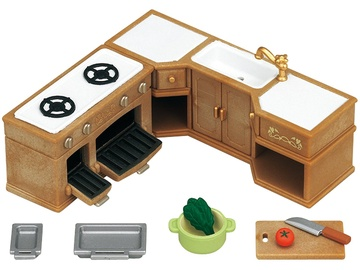Epoch Sylvanian Families Kitchen Stove Sink & Counter Set 5222