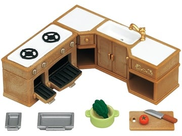 Žaislinė figūrėlė Epoch Sylvanian Families Kitchen Stove Sink & Counter Set 5222