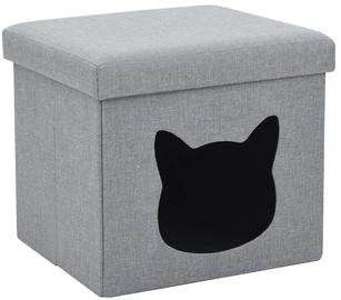 Dzīvnieku gulta - māja VLX Folding Cat Bed, pelēka, 370 mm x 330 mm