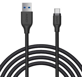 Aukey Nylon Cable USB A To USB Type-C CB-AC2/RTL 2m Black
