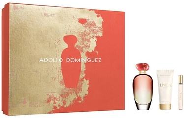 Набор для женщин Adolfo Dominguez Unica Coral 100 ml EDT + 75 ml Body Lotion + 10 ml EDT