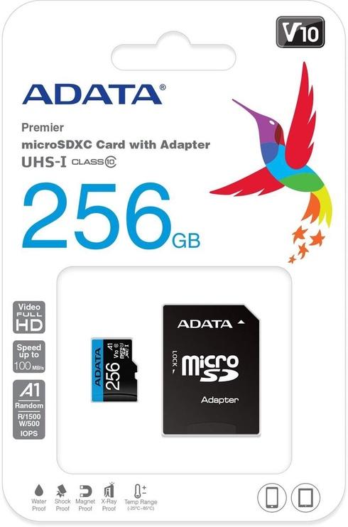 Adata Premier 256GB Micro SDXC V10 + SD Adapter