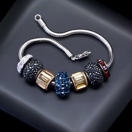 Diamond Sky Bracelet Becharmed Pavé Mini VI With Swarovski Beads