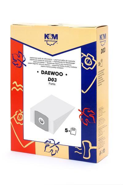 Dulkių siurblių maišeliai LT D03 Daewoo RC300, 5 vnt.