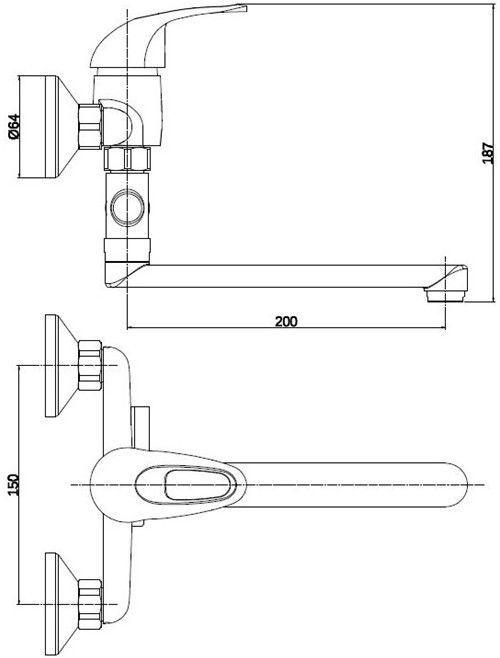 Maisītājs vannas Thema Lux DF3105-1