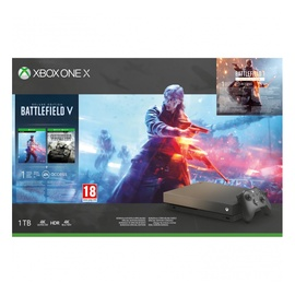 Žaidimų konsolė Microsoft Xbox One X, 1Tb + Battlefield V Deluxe Edition + Battlefield 1 Revolution Edition + Battlefield 1943