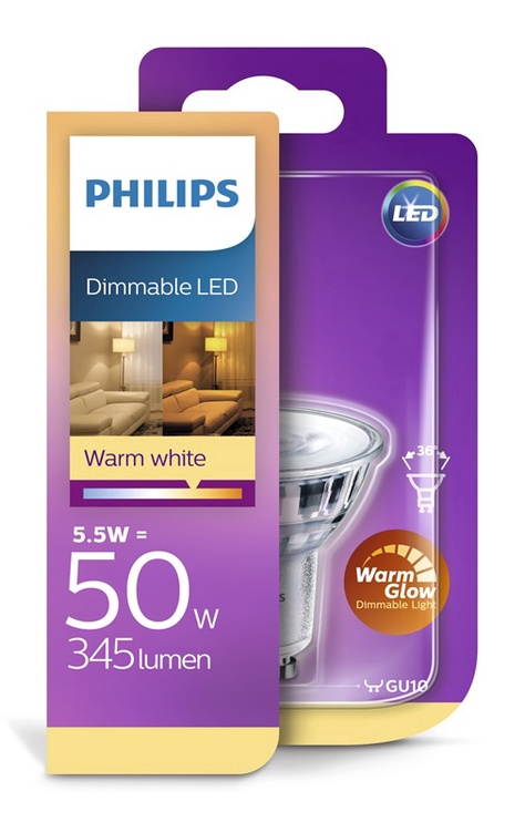 Valgusdioodlamp Philips PAR16 5W LED GU10
