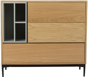 Komoda Home4you Delano Oak/Grey, 100x41.5x90 cm
