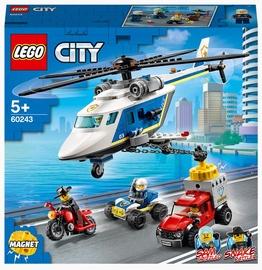 Конструктор LEGO City Погоня на полицейском вертолёте 60243, 212 шт.