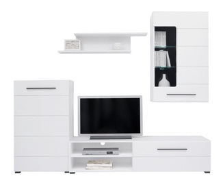 Black Red White Lena Wall Unit White
