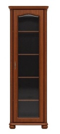 Black Red White WIT70P Glass Door Cabinet Cherry
