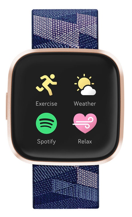 Fitbit Versa 2 Special Edition Navy & Pink Woven Copper Rose Aluminum