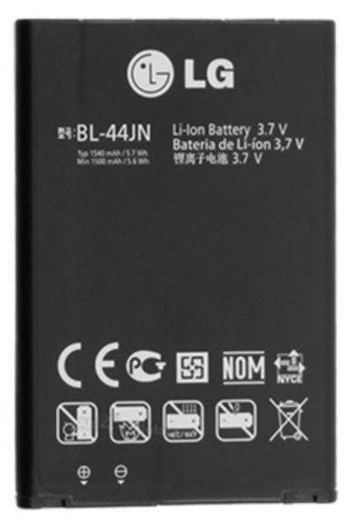 Аккумулятор для телефона LG, Li-ion, 1500 мАч