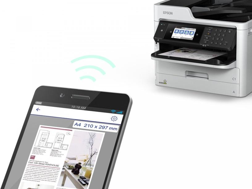 Daugiafunkcis spausdintuvas Epson Workforce Pro WF-C5710DWF, rašalinis, spalvotas