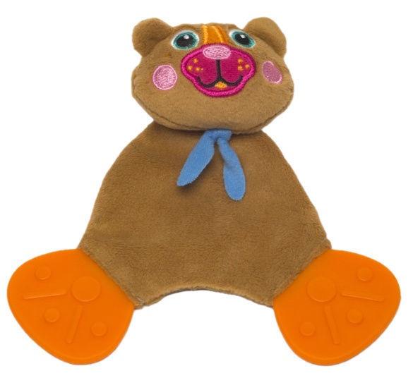 Oops Comforter Teething Toy Bear Brown