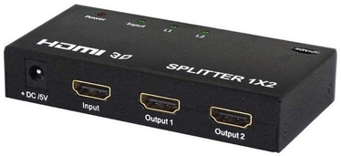 Roger Video Splitter HDMI To 2x HDMI Black