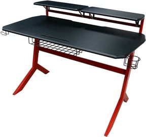 LC-Power Gaming Desk Black/Red Carbon