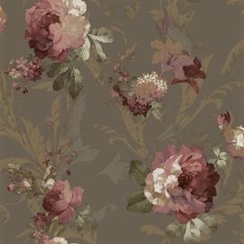 Tapete 1208, ar rozā rozēm