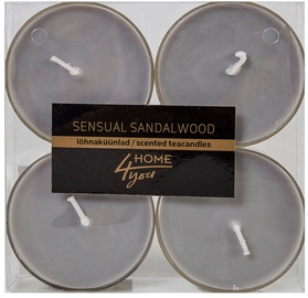Home4you Teacandles Maxi Chic Sensual Sandalwood 4pcs