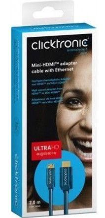 Clicktronic Cable HDMI To Mini HDMI 2m Blue