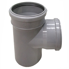 Kanalizācijas caurules trejgabals Wavin D110mm, 88°, PVC